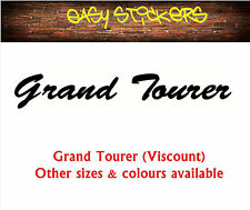 290mm Grand Tourer Viscount Caravan Retro Vintage Replacement Sticker Any Colour