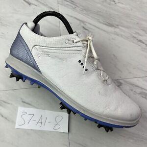 ECCO Ladies BIOM G2 HydroMax Golf Shoes, (size-EU 37 US 6/6.5) WHITE/BLUE | A1-8