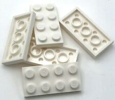Lego 5 New White Plate 2 x 4 Dot Pieces
