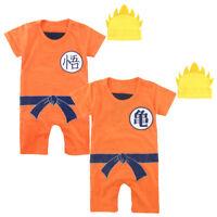 Baby Boys Dragon Ball Z Romper Newborn Goku Costume Jumpsuit Outfit Playsuit Set