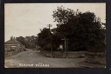 Moreton Village, near Hoylake - real photographic p/card