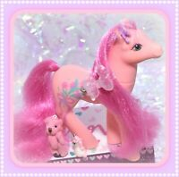 ❤️My Little Pony MLP G1 Vtg Sweetheart Sister Dainty Pink Fancy Flower Floral❤️