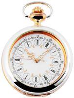 Classique Taschenuhr Weiß Silber Gold Römische Ziffern Analog X485712000016