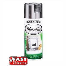 Rust-Oleum Metallic Silver 312g Spray Paint Bright Reflective Finish Arts Crafts