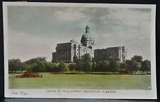1940 HOUSE OF PARLIAMENT, EDMONTON, ALBERTA , Canada - Real Photo Post Card