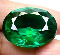 AAA Colombian 57.95 Ct Natural Green Emerald Oval Loose Gemstone Certified F4033