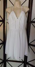 bcbgeneration White Chiffon Slip Dress size 6