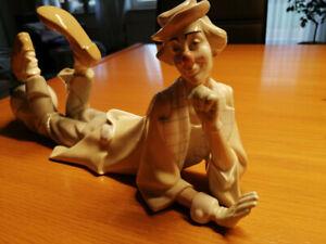 Clown von Lladro, Porzellanfigur im Top Zustand, Länge 36 cm