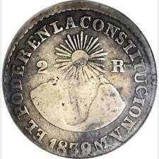 1839 Mv Ecuador 2 Reales, Anacs F 12, Quito Ungebraucht, km 18