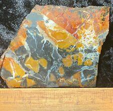 Stone Canyon Jasper Slab-Golden Brown, Red & Black Jasper!