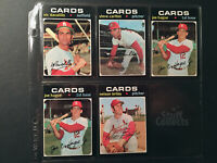 1971 Topps St. Louis Cardinals Baseball Cards Steve Carlton Joe Hague Set Break