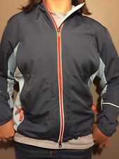 Nike Run 56323 Women's Track Jacket Windbreaker Blue Zip Up Reflective Vented