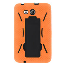 Orange Hybrid Hard Case Skin Cover For Samsung Galaxy Tab 3 E Lite 7.0 T110