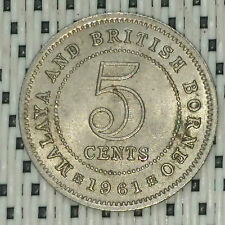 *GOOD Grade* 1961 - Malaya - 5 Cents Elizabeth II #CBUC