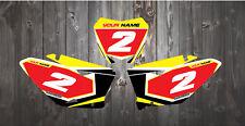 Suzuki RM H. Motocross número fondos 125 250 450 calcomanías/Pegatinas