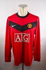 Manchester United Gr. L #18 Scholes Jersey Nike 2009/2010 MUFC longsleeve  AIG