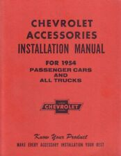OEM Repair Maintenance Shop Manual Bound Chevrolet Accessories Installation 1954