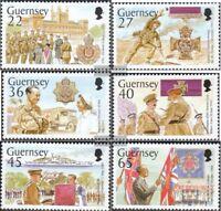 GB-Guernsey 932-937 (kompl.Ausg.) postfrisch 2002 Militär