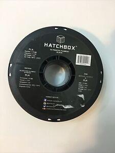 HATCHBOX PLA 1.75 mm 3D Printer Filament in Black, 1kg Spool
