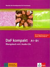 Klett DAF Kompakt A1-B1 ubungsbuch mit 2 Audio CD Deutsch pelliccia Erwachsene @NEW @