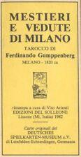 Tarocchi Mestieri e Vedute di Milano Tarot 382/1000 Gumppenberg Del Solleone