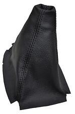 BLACK STITCH FITS HONDA CIVIC 1996-2000 3D HATCHBACK  LEATHER SHIFT BOOT