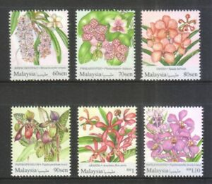 MALAYSIA 2017 NATIONAL DEFINITIVE SERIES (ORCHIDS) COMP. SET OF 6 STAMPS IN MINT