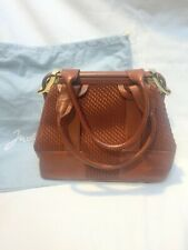 JUDITH LEIBER DARK BROWN LEATHER HANDBAG - NEW W/TAG -RARE- PART OF COLLECTION