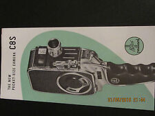 Bolex Paillard movie camera C8S Movie Leaflet English language version 1950s