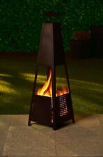 New 128cm garden heater log burner chiminea fire with free rain cover