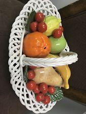 Vintage Large  Capodimonte fruit Basket
