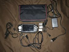 Sony Jailbreak PSP Slim 2001 Silver w/ Charger,Memory Card,USB Cable,Case,Cover