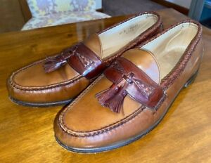 ALLEN EDMONDS Maxfield brown leather tassel loafers shoes sz 13 D Made in USA