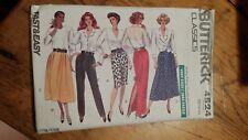 Vintage Butterick Ladies Skirt Pants Pattern 4524 Size 12-16 Free Shipping
