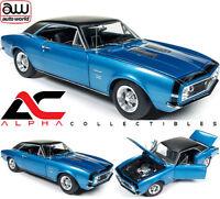 AUTOWORLD AMM1118 1:18 1967 CHEVROLET CAMARO BALDWIN MOTION SS 427 BLUE