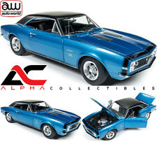 AUTOWORLD AMM1118 1:18 1967 CHEVROLET CAMARO BALDWIN MOTION SS 427 BLUE