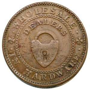 (1838-39) Low-324A HT-212A New York Patterson Brothers Hard Times Token