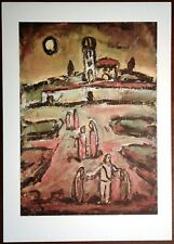 Stampa GEORGES ROUAULT Crepuscolo Crepuscule Grafica Arte Edizioni Seat 1988