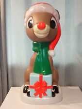 """24"""" Lighted Classic Rudolph Blow Mold Outdoor Christmas Porch Yard Holiday Decor"""
