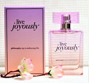 Philosophy LIVE JOYOUSLY 2oz Eau De Parfum Immaculate/Actual Photo)
