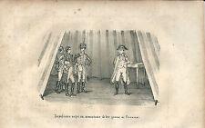 1846 NAPOLEONE NEGA ARMISTIZIO DI TRE GIORNI AI PRUSSIANI litografia Napoleon
