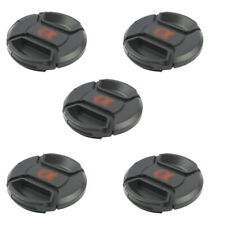 5 Packs 55mm Snap On Lens Caps for Canon Nikon Sony Pentax Olympus Fuji Lense