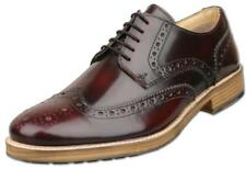 Mens UK Size 10 Oxblood Brogue Gibson Shoes Hi-Shine Leather