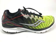 Saucony Mens Progrid Kinvara 3 Black Citron Red Running Shoes Size US 11M