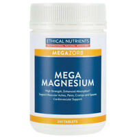 ETHICAL NUTRIENTS MEGAZORB MEGA MAGNESIUM 240 TABLETS FOR MUSCULAR ACHES & PAINS