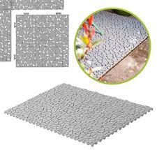 """UPP Gartenplatten Klicksystem 30x30cm """"Stein"""" Kunststoff Terassenplatten Platten"""