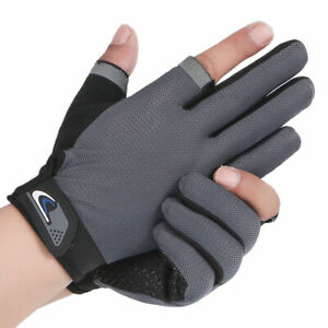 Riding Gloves men's thin breathable sunscreen anti slip cycling fishing outdoor