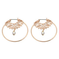Fashion Alloy Round Circles Spiral Tribal Hoop Ear Stud Earrings Women's Jewelry