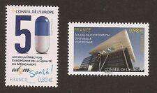 FRANCE 2014 - Timbres de Service CONSEIL de L'EUROPE n° 159 et 160 NEUFS** LUXE