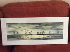Original watercolour signed, Duck at Twilight by Ricky Figg.
